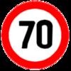"""Опознавательный знак """"Ограничение максимальной скорости"""""""